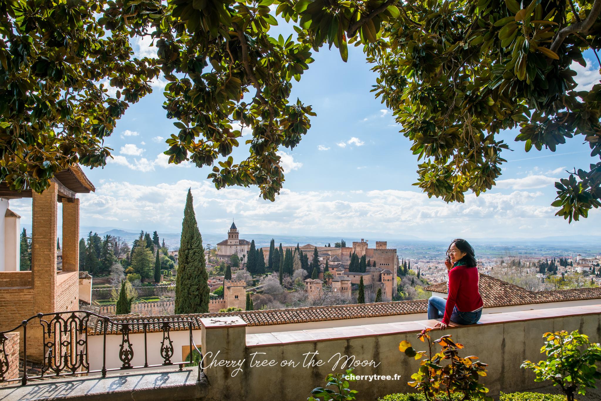 El Partal và cung điện Nazaries nhìn từ Generalife